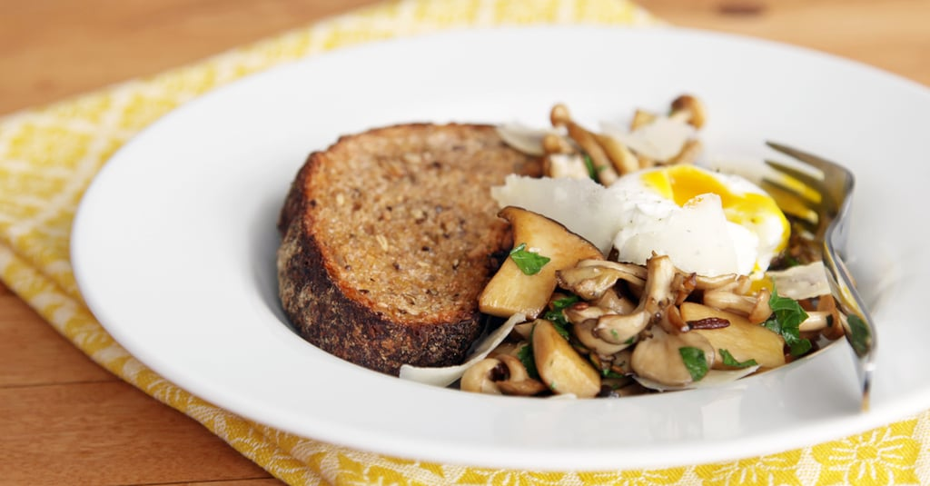 Sautéed Mushrooms With Poached Egg
