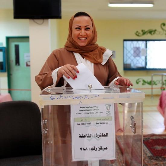 Saudi Arabian Women Vote 2015