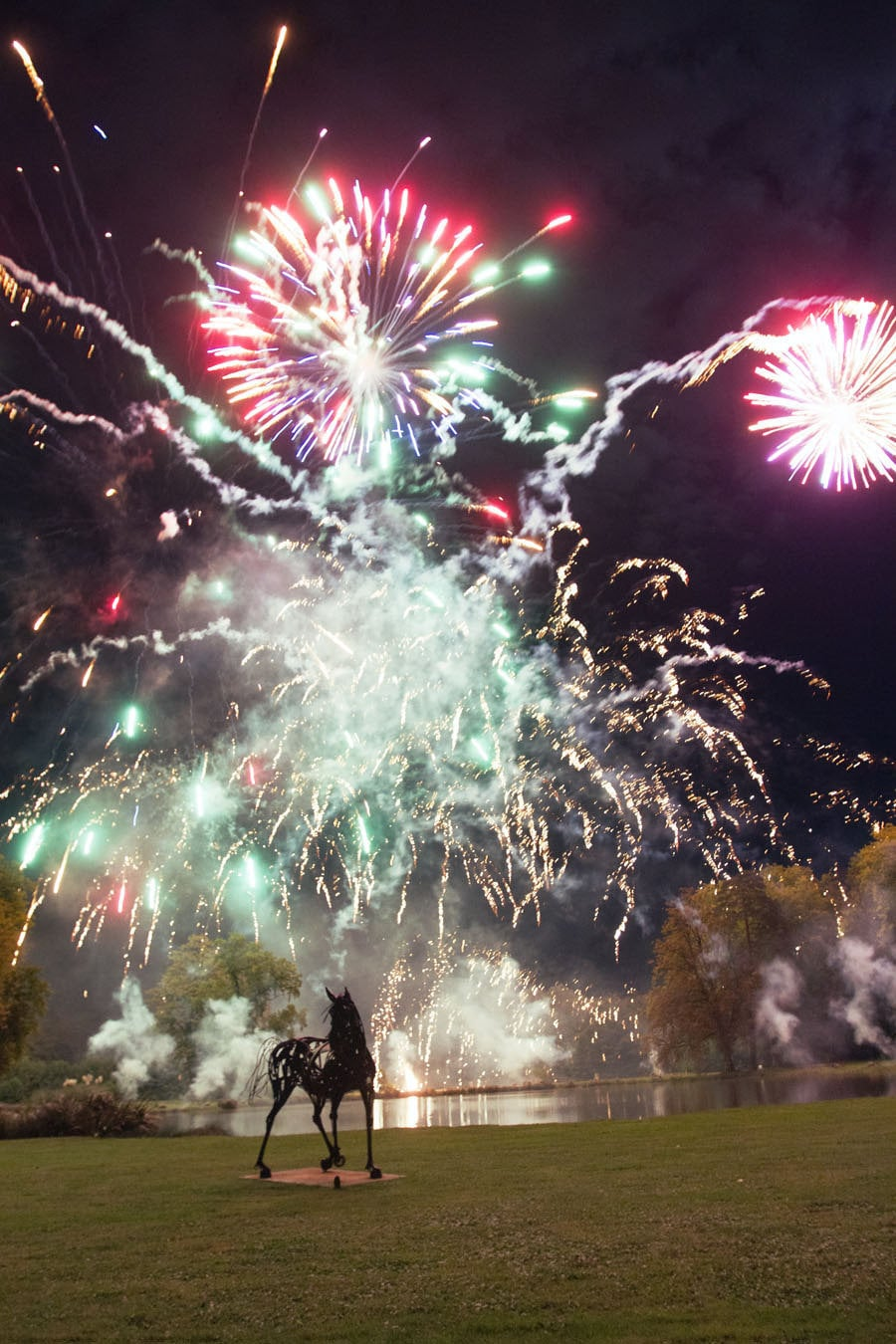 Wow. Just wow, is all I can say about this stunning fireworks display at this French countryside wedding.