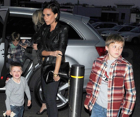 Photo of Victoria Beckham With Her Sons Brooklyn, Romeo, and Cruz Heading to See David's Game