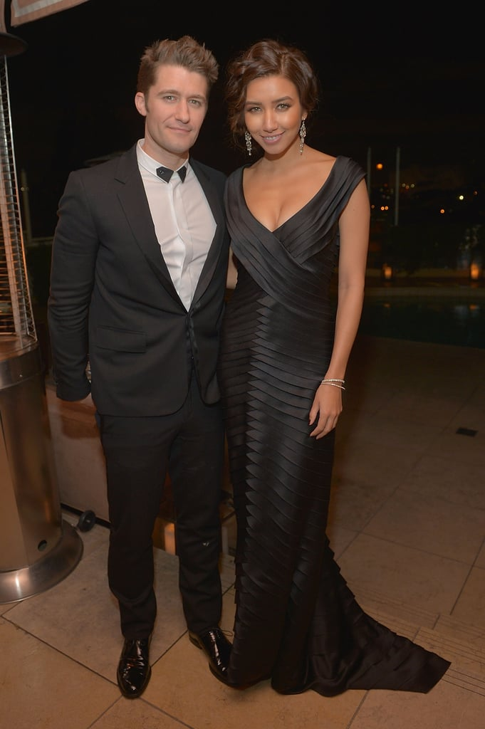 Matthew Morrison and Renee Puente posed side by side.