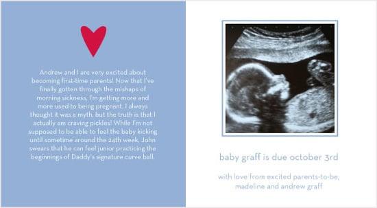 Tiny Prints Pregnancy Announcements