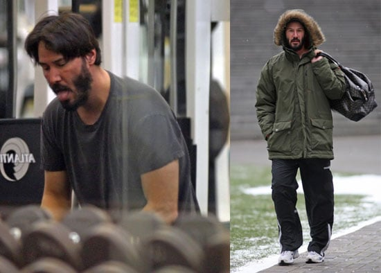 Keanu Pumping Iron, Wearing Parkas