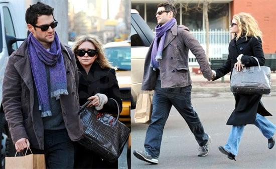 Ashley Olsen and Justin Bartha in NYC