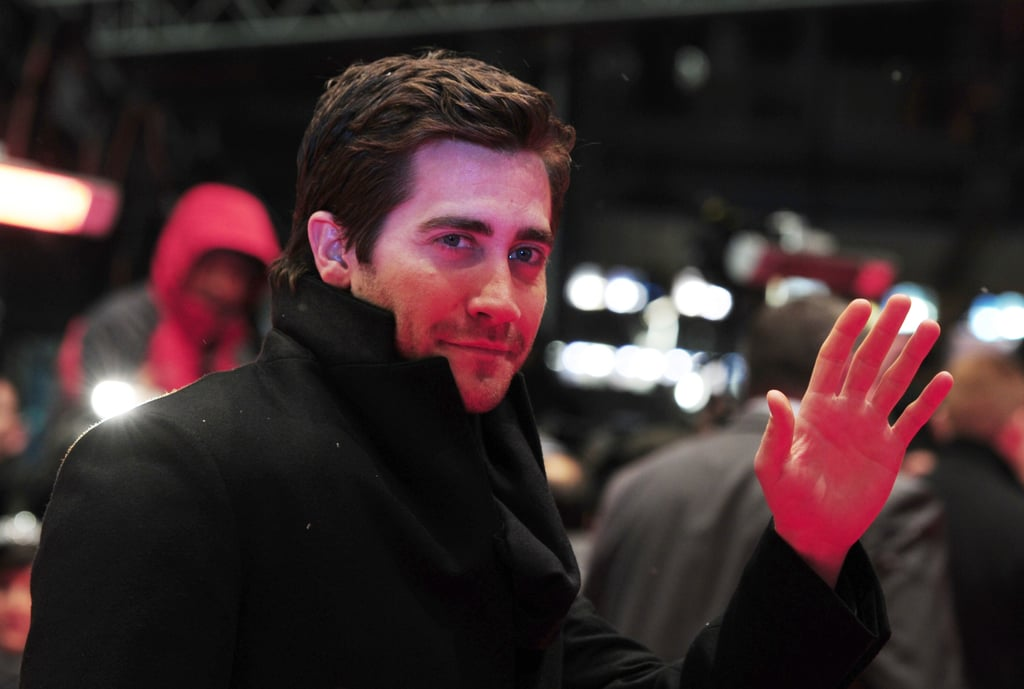 Jake Gyllenhaal threw a smile in the direction of fans and photographers.