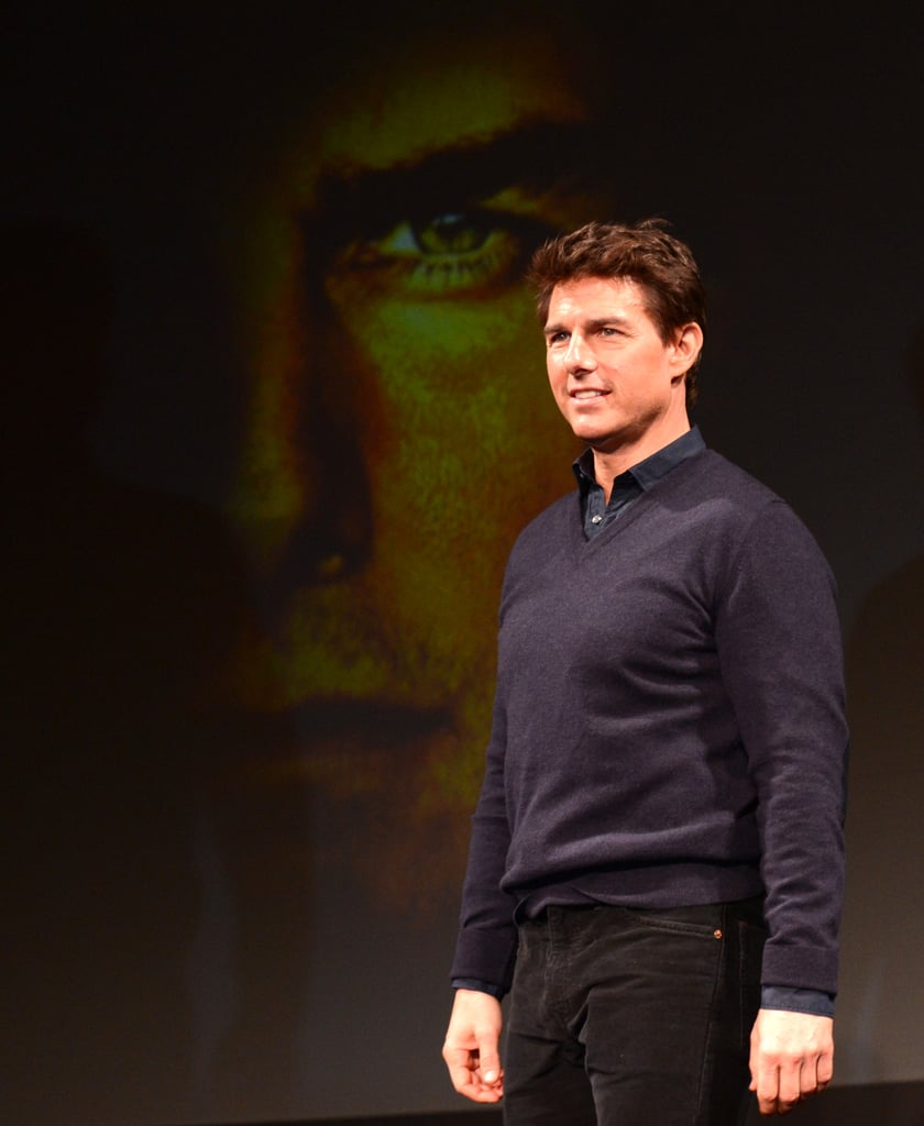 Tom Cruise posed for photos.