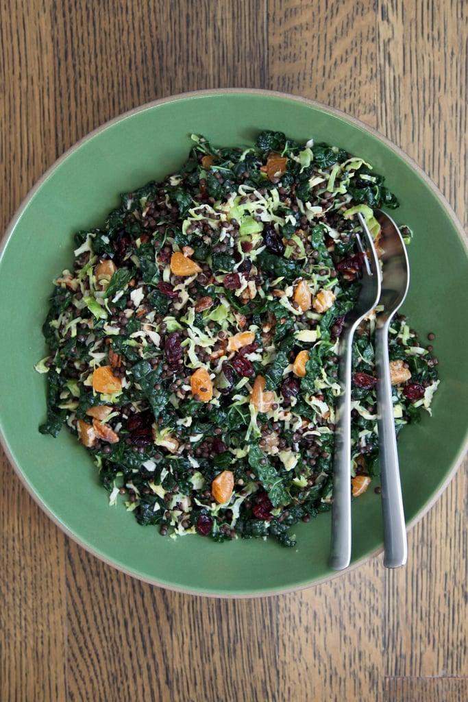Brussels Sprout, Lentil, and Kale Salad
