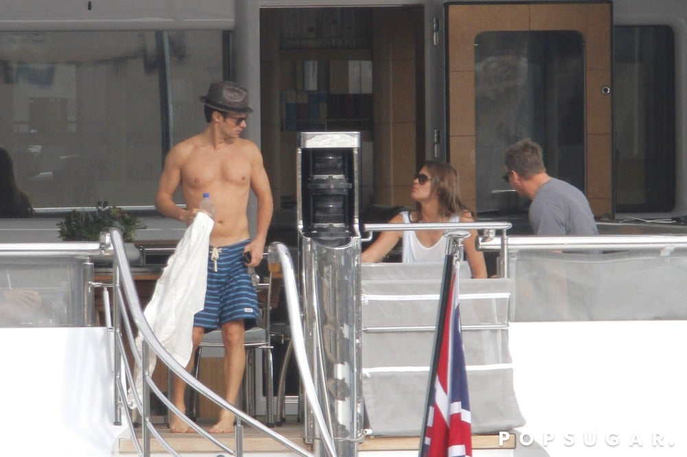 Ryan Seacrest put his shirtless bod on display during a yacht outing with rumored new girlfriend Dominique Piek in the South of France in May.