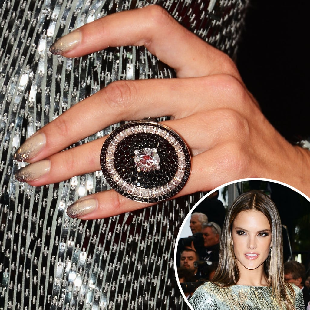 Alessandra Ambrosio opted for a neutral-hued ombré manicure at the premiere of All Is Lost.