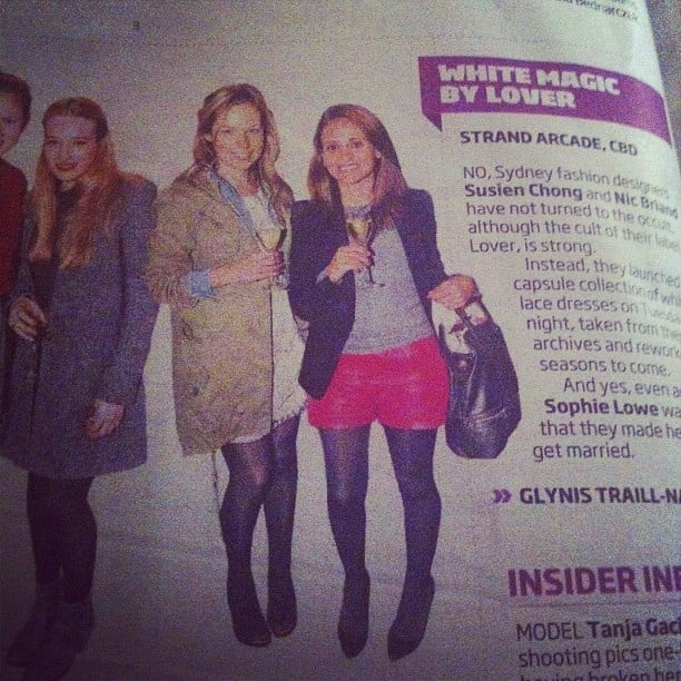 Stylish and social! Ali and publisher Marisa got papped for the Sunday paper.