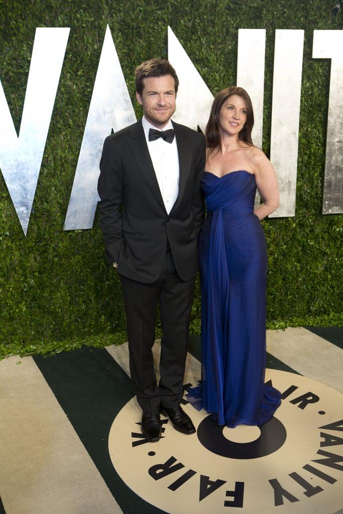 Jason Bateman arrived at the Vanity Fair Oscar party.