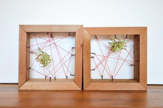 Wood Frame Plant Holder