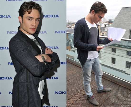 Pictures of Ed Westwick Filming The Commuter Nokia N8 Short Film in London