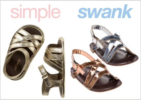 Metallic Sandals for Girls