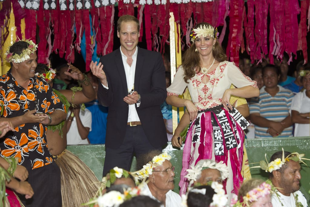 William and Kate joined in the traditional dances in Tuvalu in Sept. 2012.