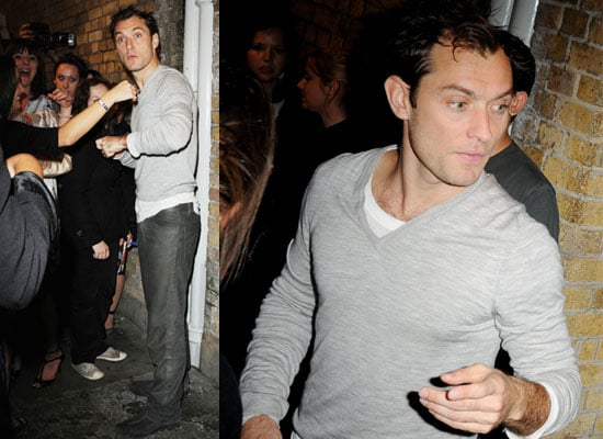 Photos of Jude Law After Hamlet Performance as More Rumours Circulate About The Mother of His Unborn Fourth Child
