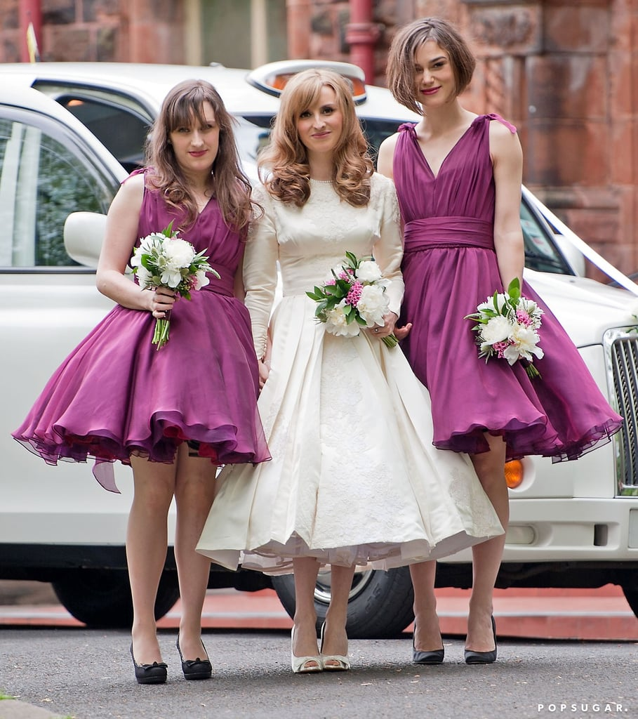 Keira Knightley got together with her new sister-in-law after the April 2011 wedding ceremony in Glasgow.
