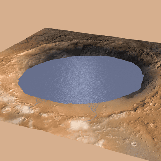 Mars Likely Had Water in Crater
