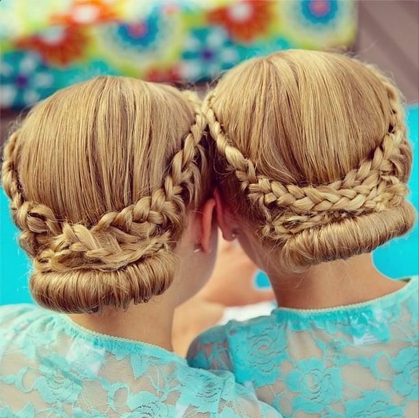 More Intricate Milkmaid Braids