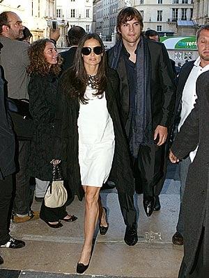 Demi and Ashton Do Fashion Week