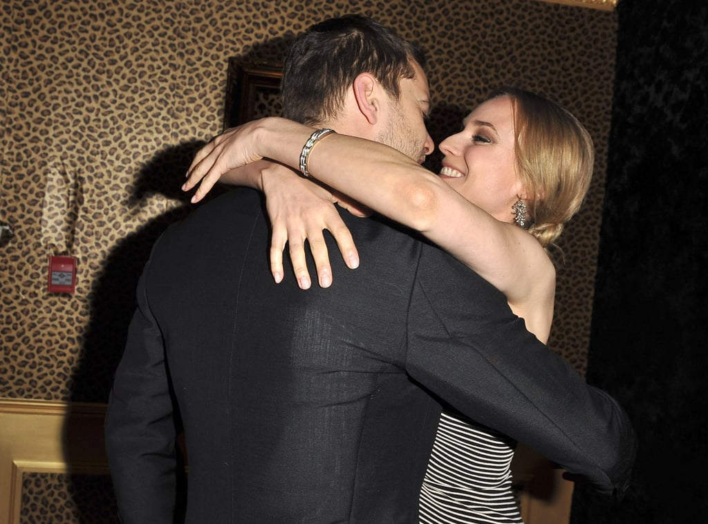 Joshua Jackson went in for a kiss with Diane Kruger at the April 2010 Genie Awards in Toronto.