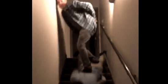 Watch A Bro Surf Another Bro Down The Stairs Because ... Bros