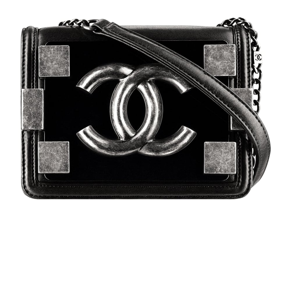 Chanel Black Leather Bag With Pieces in Metal Photo courtesy of Chanel