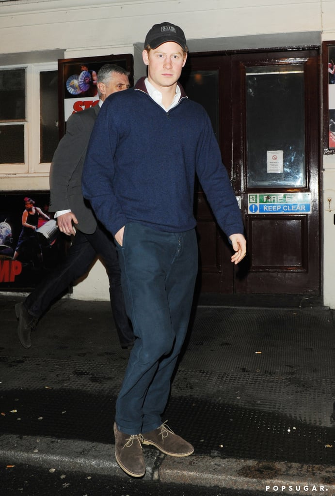 Prince Harry kept a low profile at The Ivy.