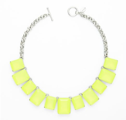 Dress up even the most laid-back ensembles with a bright pop of neon. We're thinking this fluoro-yellow statement necklace will do wonders for a gray-t-shirt-and-jeans combo. Ann Taylor Neon Lights Short Necklace ($88)
