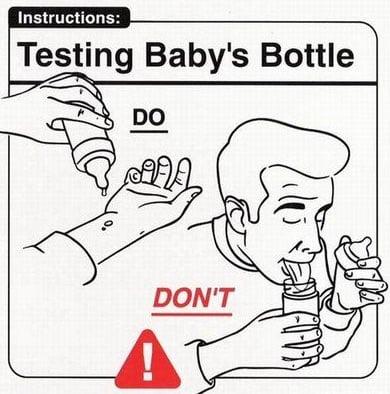 Testing Baby's Bottle