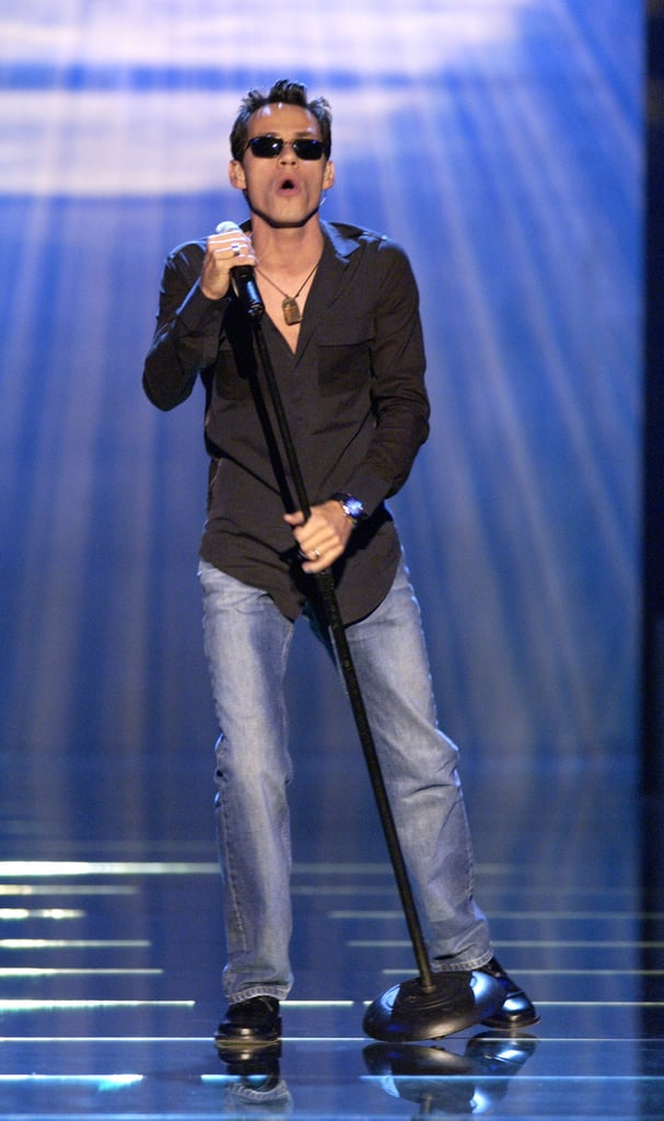 Marc Anthony performed on stage during the 2002 show.