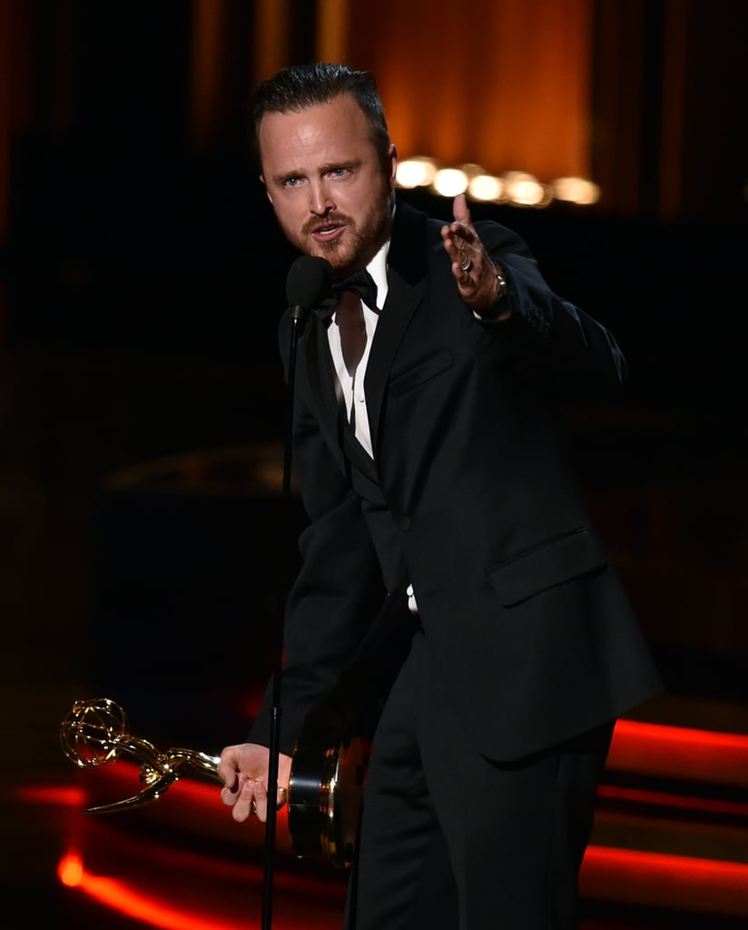 Aaron Paul gave a heartfelt speech.