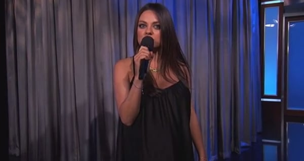 """Mila Kunis Warns Dads-to-Be to Stop Saying """"We're Pregnant"""""""