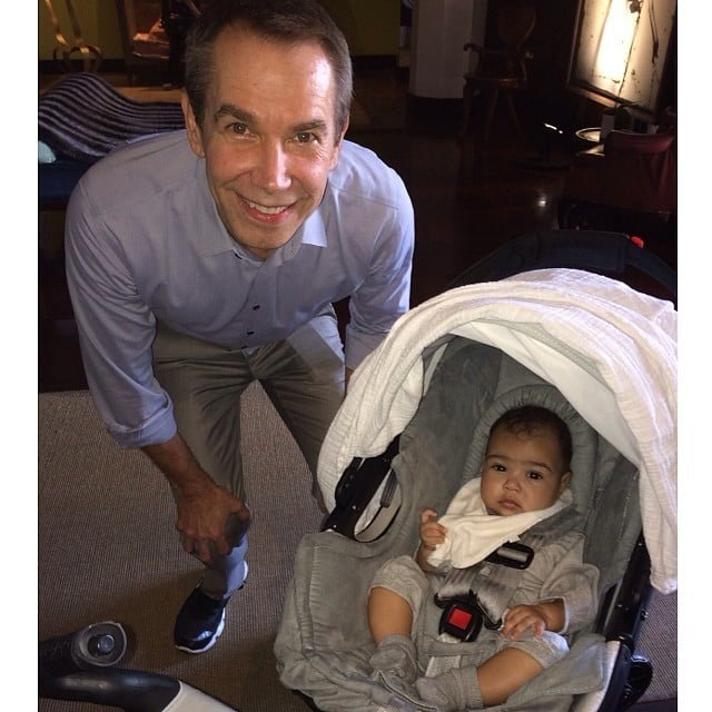 North West and Jeff Koons made each other's acquaintance. Source: Instagram user kimkardashian