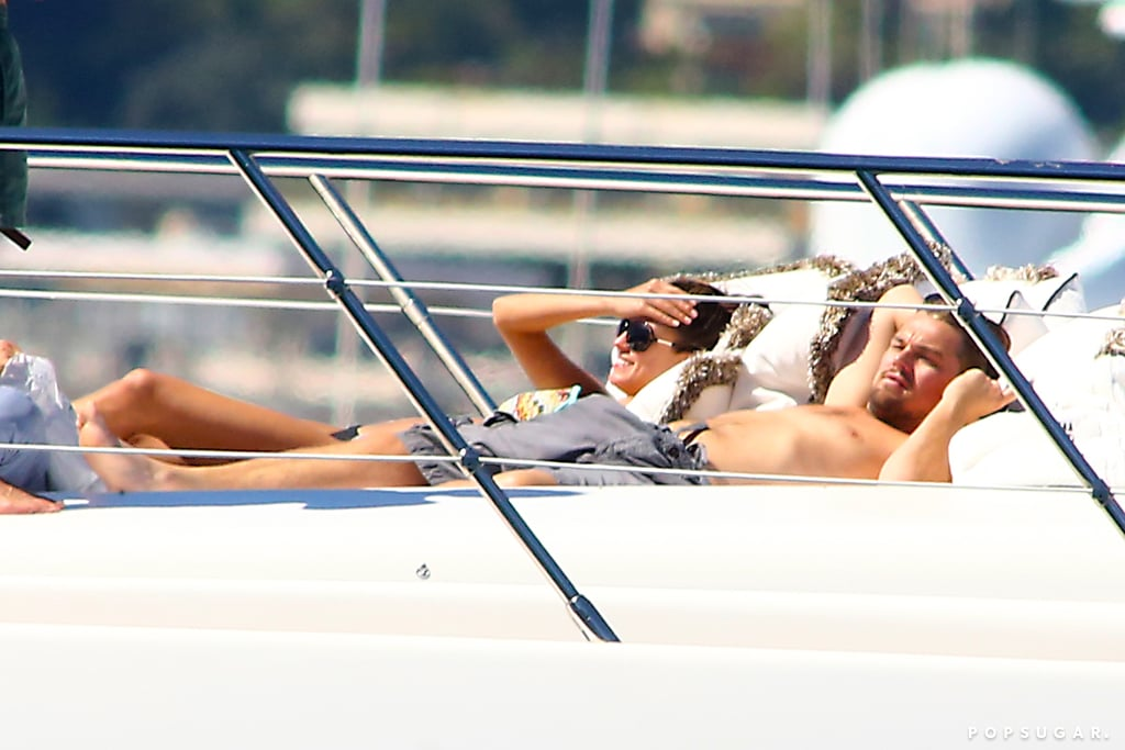 Leonardo DiCaprio went shirtless to lounge on a yacht in the South of France in May 2013.