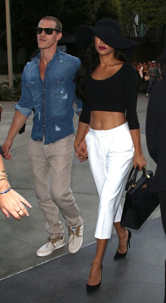 Naya Rivera held hands with her new husband, Ryan Dorsey.