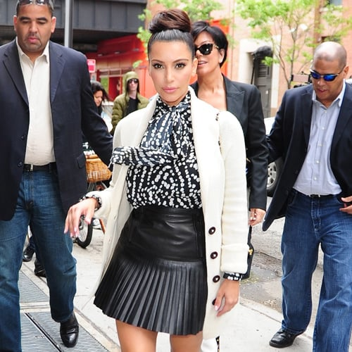 Celebs in Pleated Leather Skirts