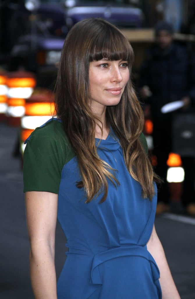 Jessica Biel posed for photos.