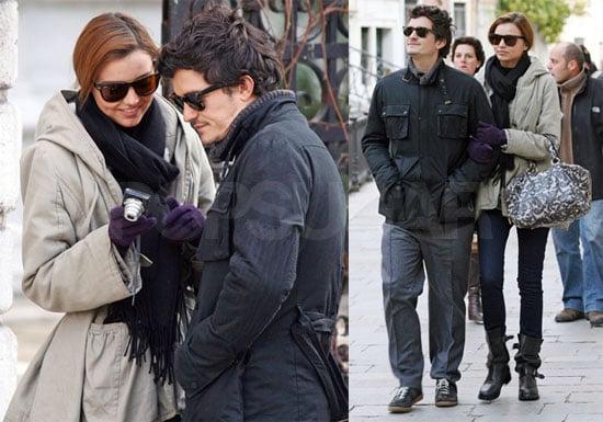 Photos of Orlando Bloom and Miranda Kerr in Venice