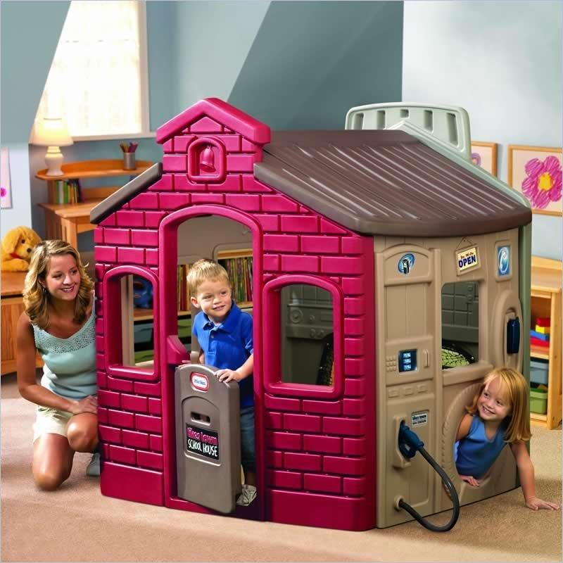 Adventures abound in the Endless Adventures Tikes Town Playhouse ($499), suitable for both indoor and outdoor use.