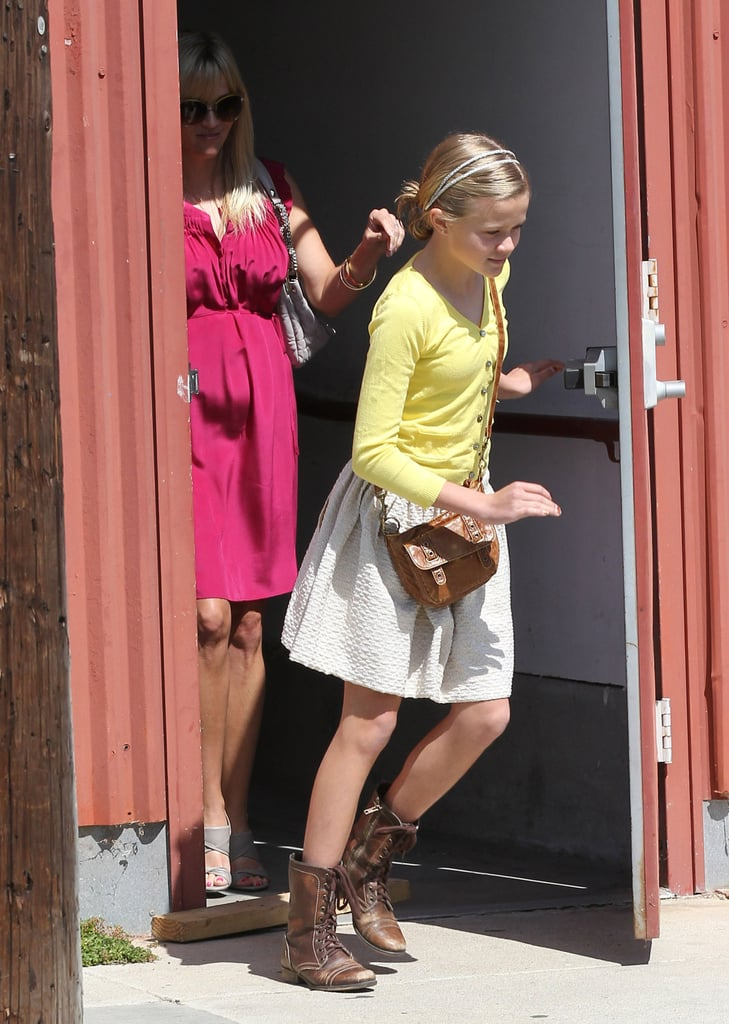Reese Witherspoon Is All Smiles Leaving Easter Service