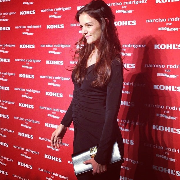 Katie Holmes struck a pose for photographers and press prior to NYC's Narciso Rodriguez Kohl's Collection Launch Party in October.