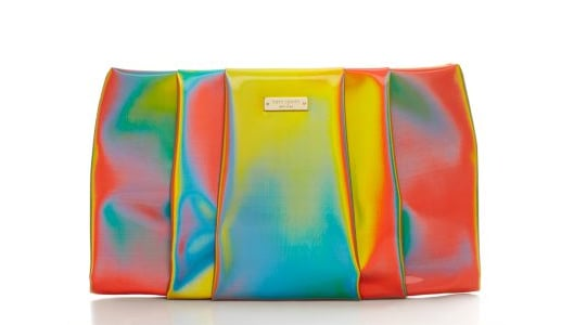 """Can you say """"party clutch""""? Because that's exactly what this Kate Spade Kaliedoball clutch ($248) is: bright, fun, playful, and a veritable optical illusion."""