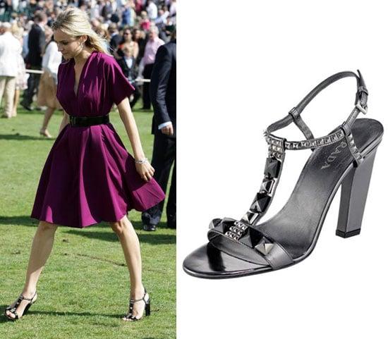 Found! Diane Kruger's Pewter Jeweled Sandals