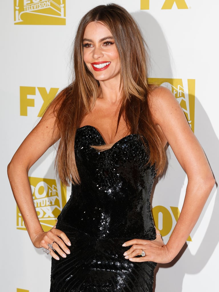 Sofia Vergara attended the Fox after party.