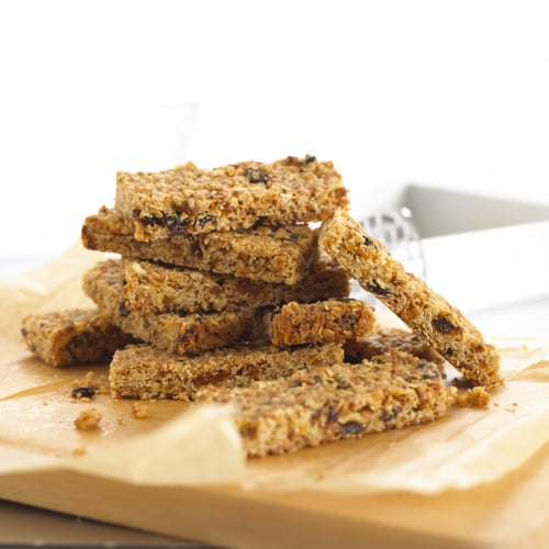 POWER PACKED OAT BARS WITH CRANBERRIES APRICOTS  AND PUMPKIN