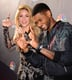He and Shakira got silly on the red carpet at an event for The Voice in April 2014.