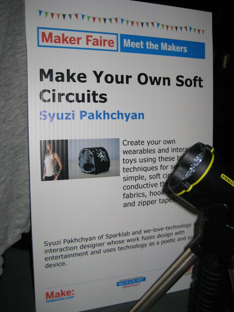 Maker Faire: Sparklab's Make Your Own Soft Circuit Kit