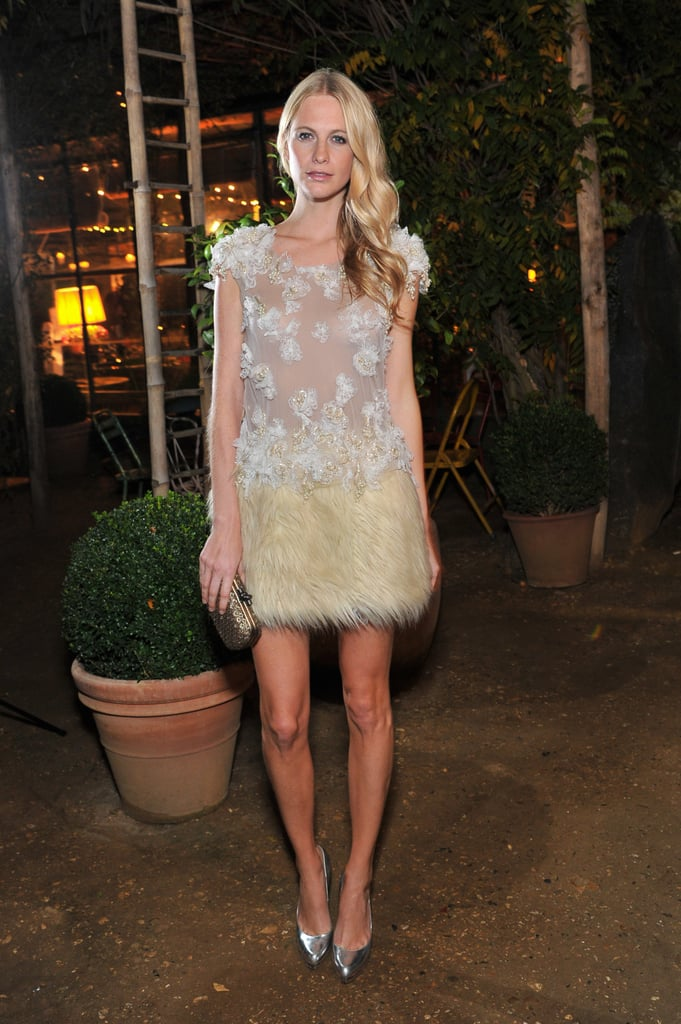 Poppy Delevigne at an All Saints event in England.