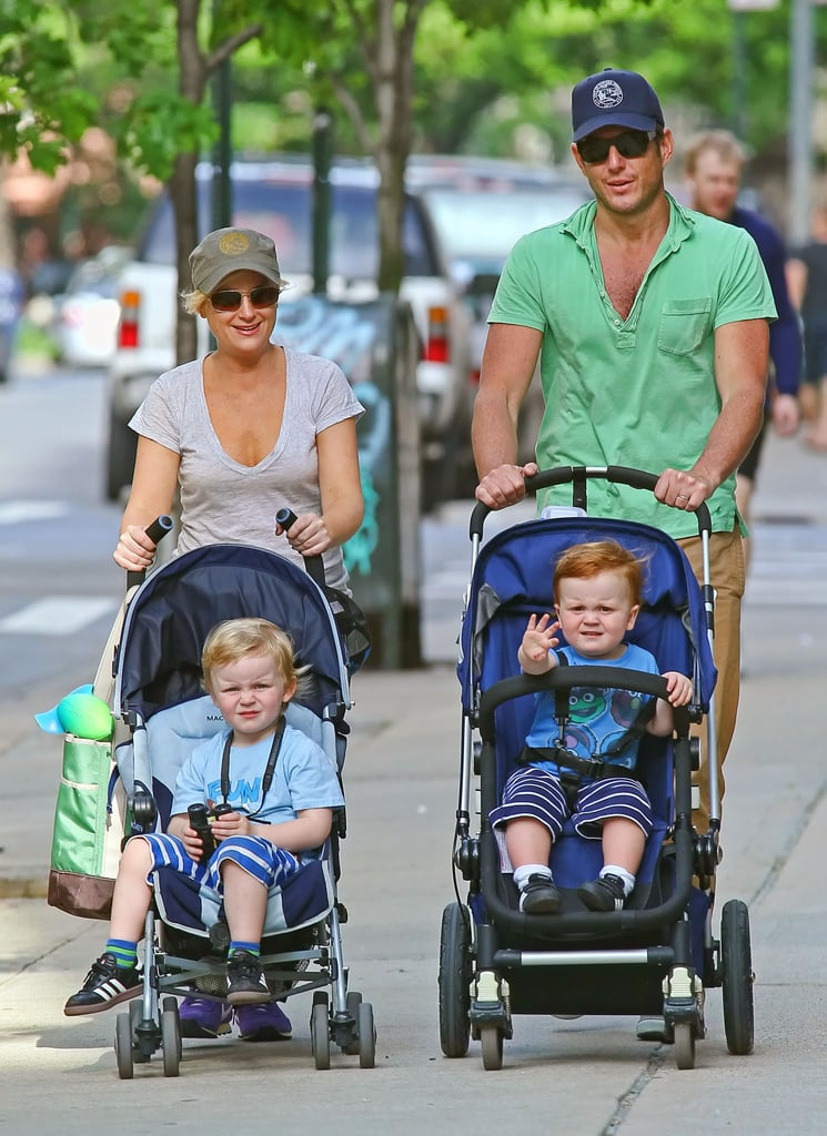 In May 2012, Will Arnett and Amy Poehler took their two sons, Archie and Abel, for a walk around NYC.